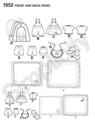 Kwik Sew Doll Carrier Sleeping Bag And Stuff Bag 3909 Pattern