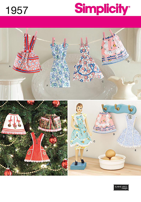 Simplicity Apron Ornaments 1957