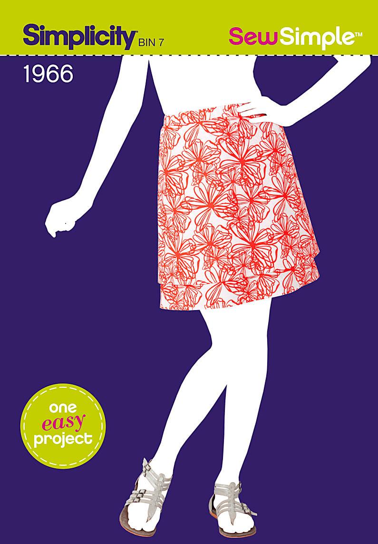 Simplicity Sew Simple Misses Pull-On Skirt 1966