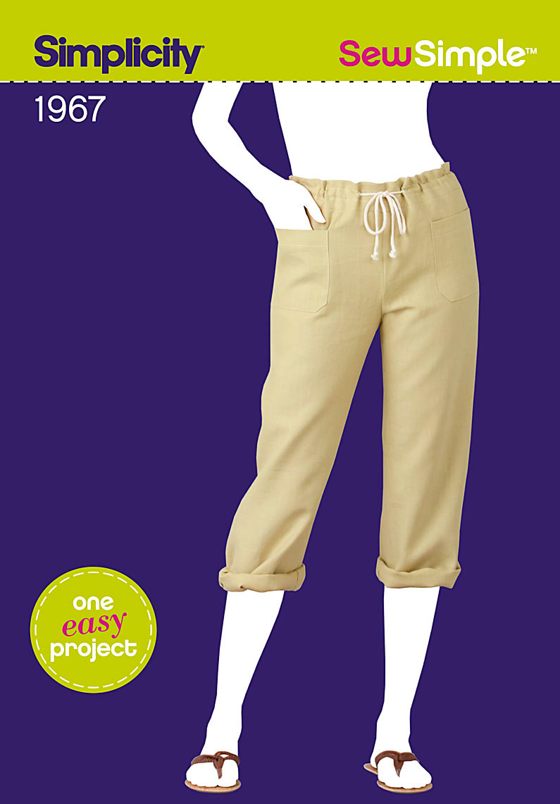 Simplicity Sew Simple Misses Cropped Pants 1967