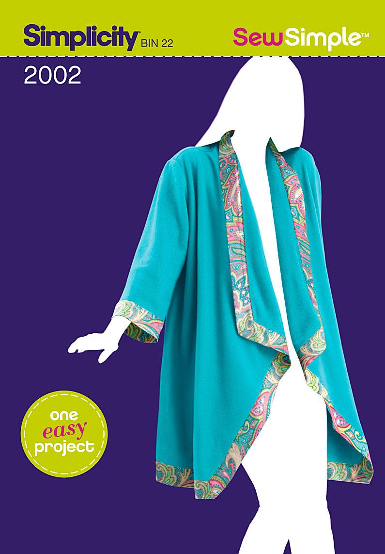 Simplicity Sew Simple Misses Fleece Jacket 2002