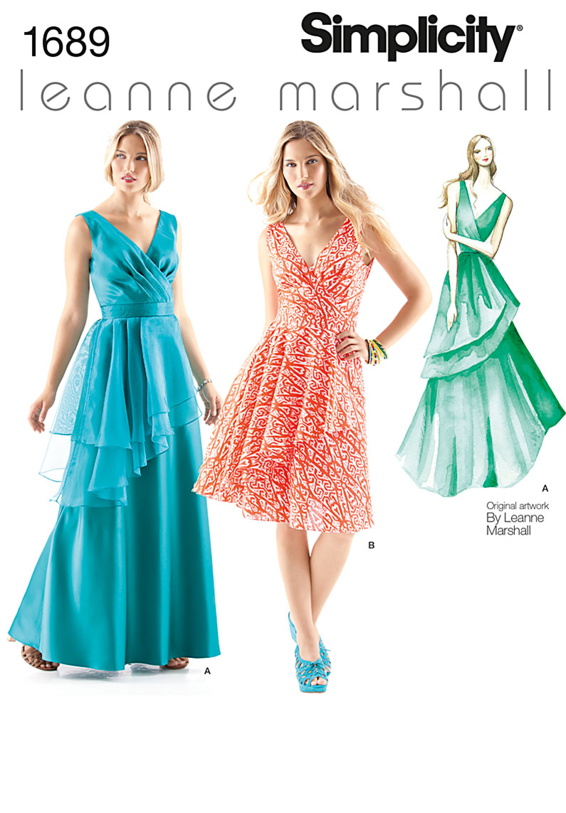 Simplicity Misses' Dresses Leanne Marshall Collection 1689