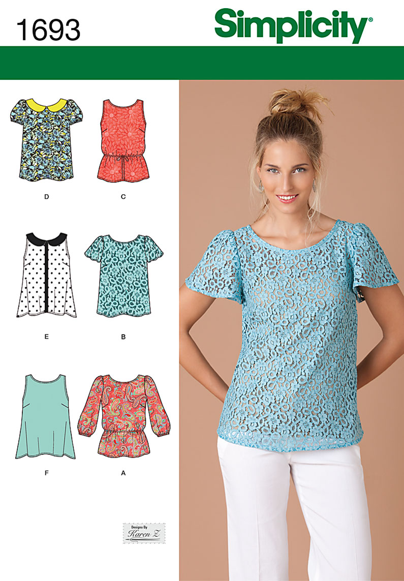 Simplicity 1693 Misses' Tops