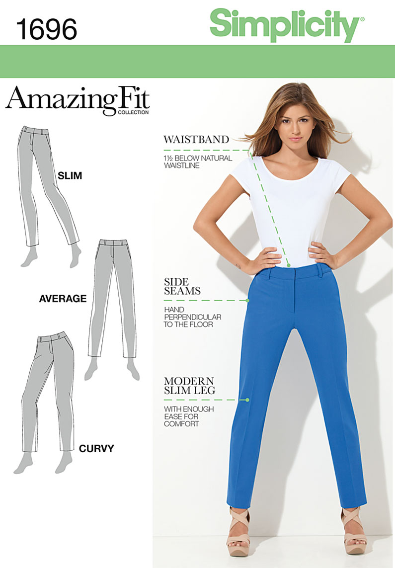 Simplicity Misses' & Miss Petite Amazing Fit Pants 1696