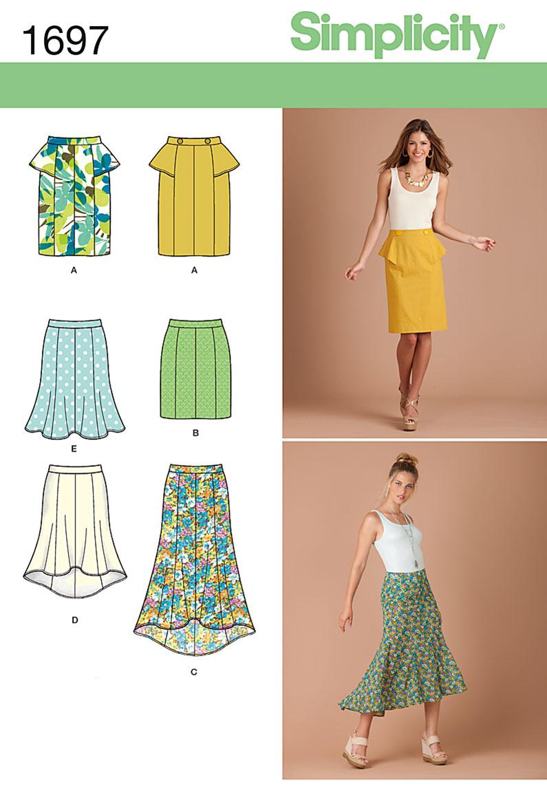Simplicity Misses' & Miss Petite Skirts 1697