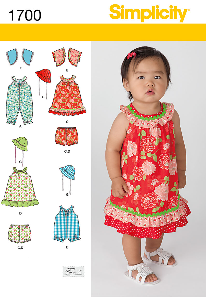 Simplicity Babies' Dress and Separates 1700