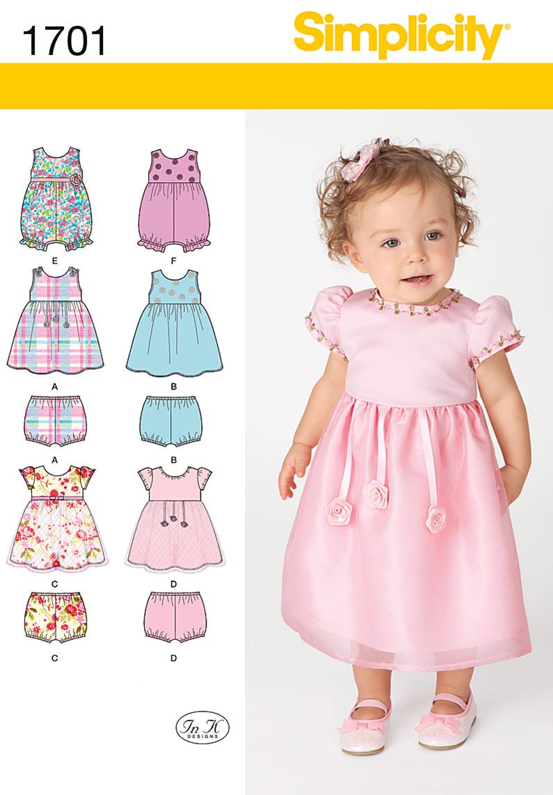 Simplicity Babies' Dress and Separates 1701