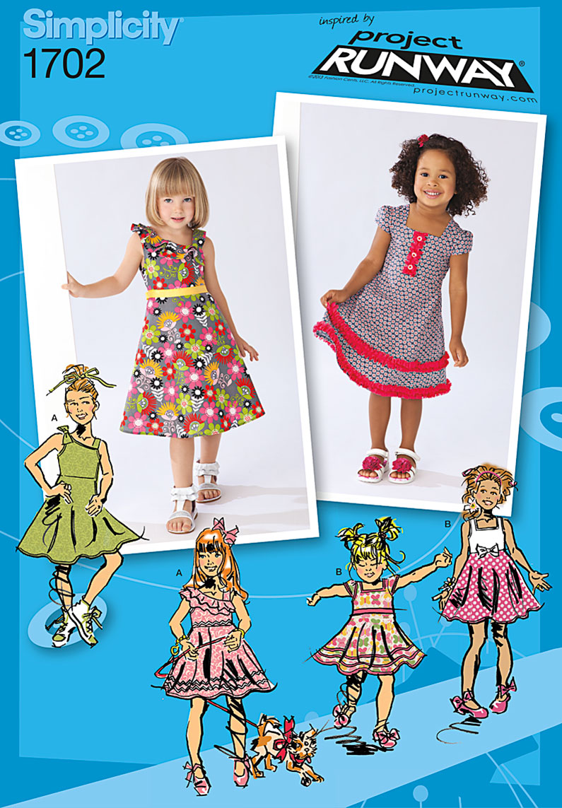 Simplicity Toddlers' and Child's Dresses  1702