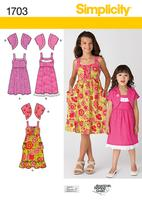 Simplicity 1703 Pattern ( Size 7-8-10-12-14 )
