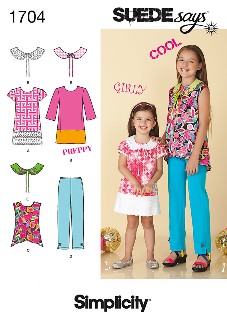 Simplicity Child's and Girl's Separates 1704