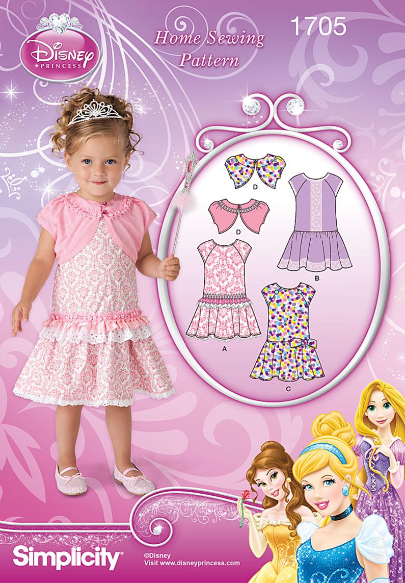 Simplicity Toddlers' Dress Disney Princess 1705