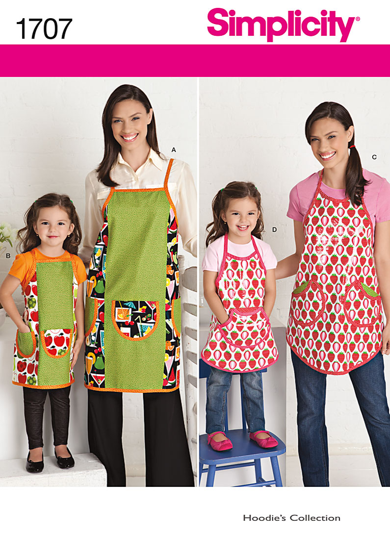 Simplicity Child's and Misses' Aprons 1707