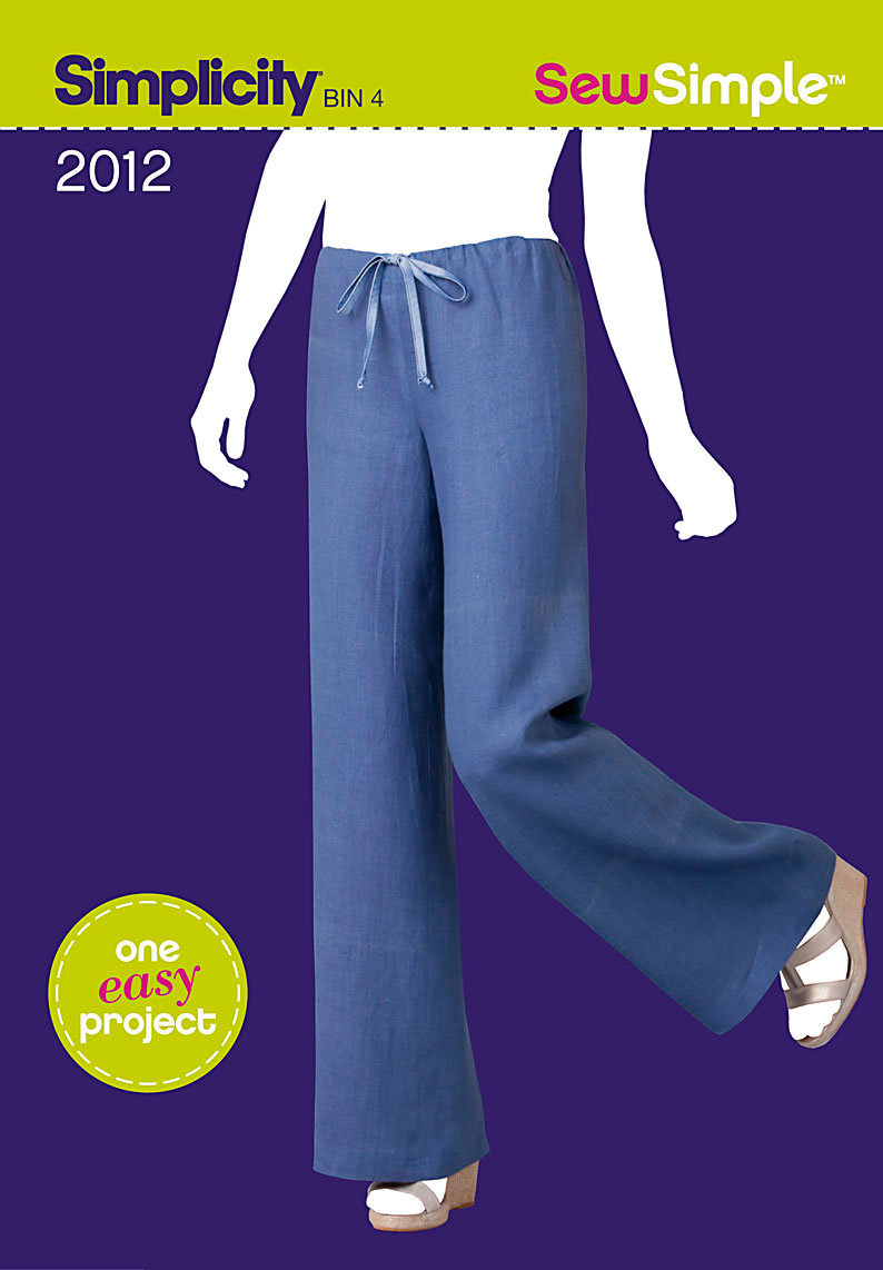 Simplicity Sew Simple pull on pant 2012