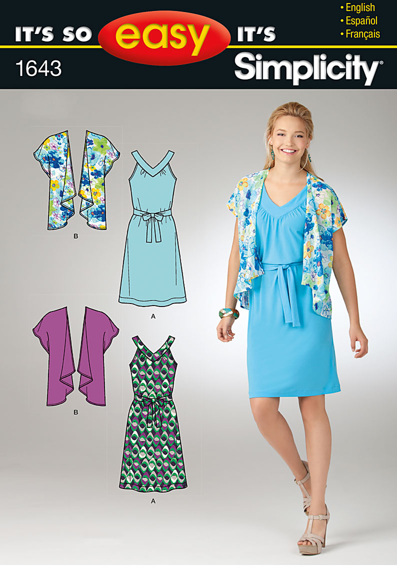 Simplicity Misses Dress and Jacket 1643