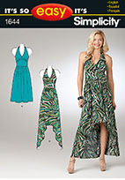 Simplicity 1644 Pattern ( Size 6-8-10-12-14-16 )