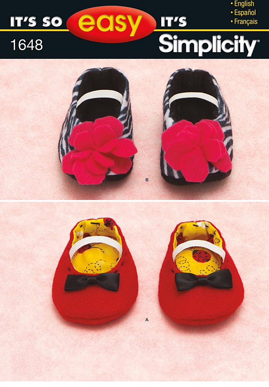 Simplicity Babies Shoes 1648