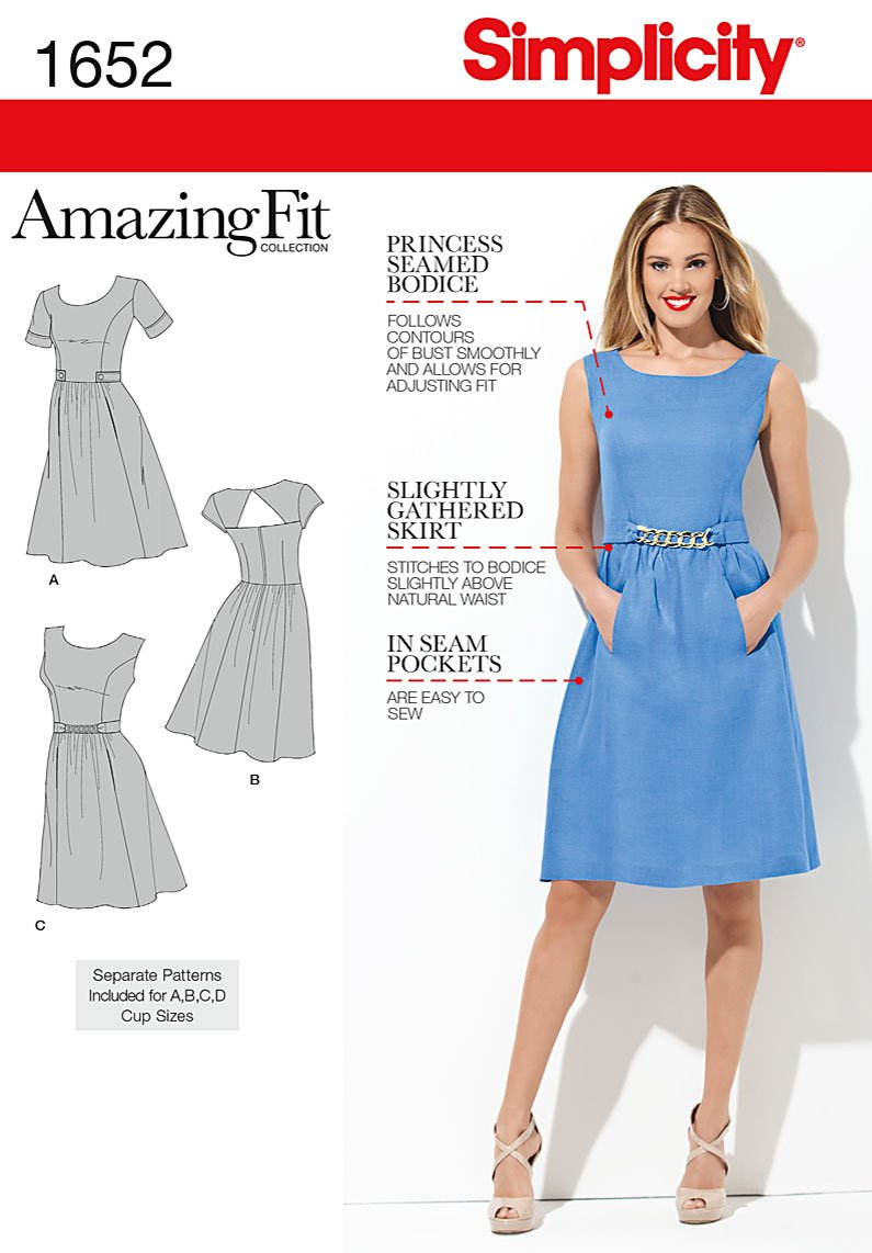 Simplicity 1652 Misses Dress sewing pattern