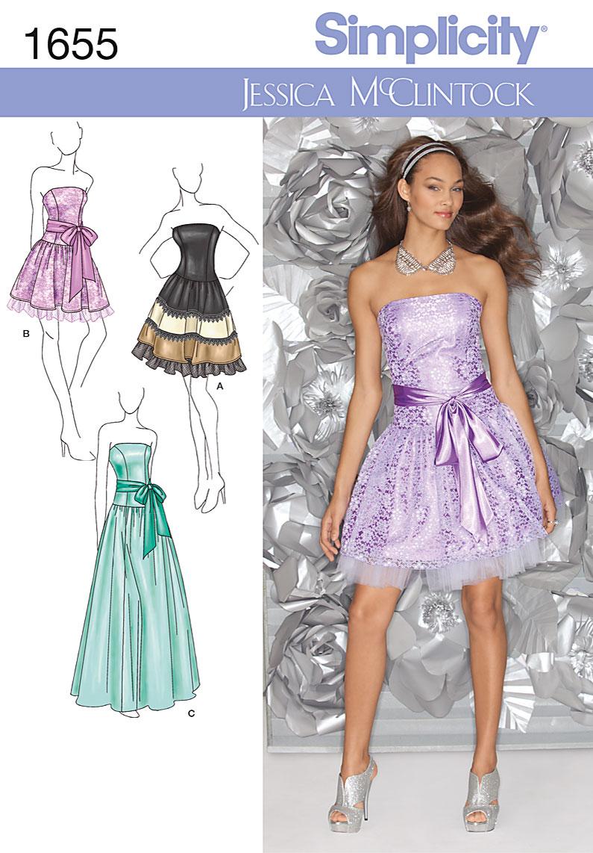 Simplicity Misses Formal Dress 1655