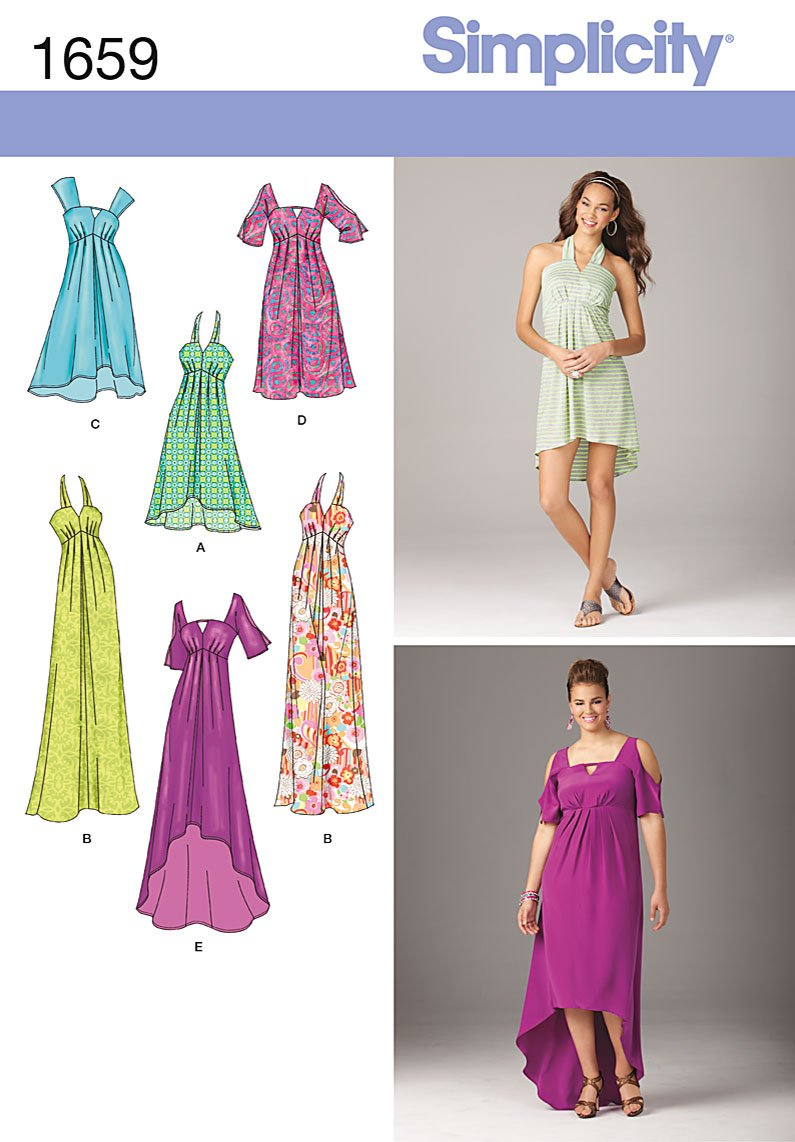 Simplicity 1659 Misses and Plus Dress sewing pattern