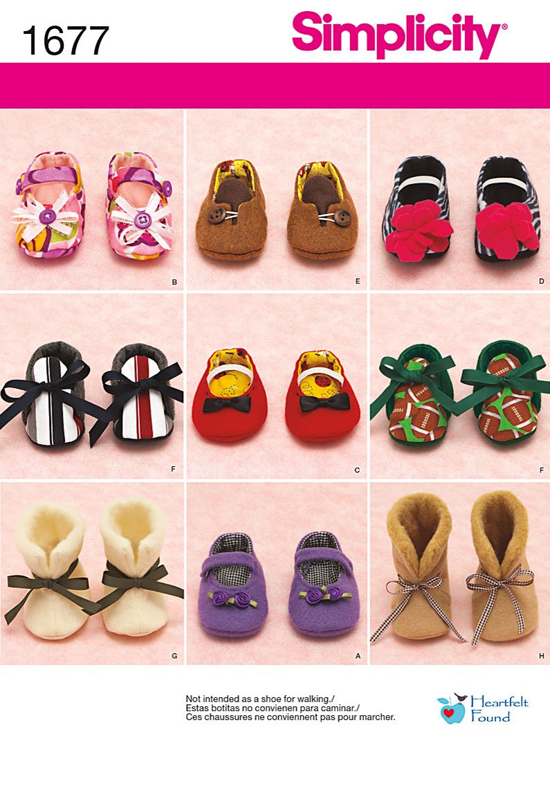 Simplicity Baby Shoes 1677
