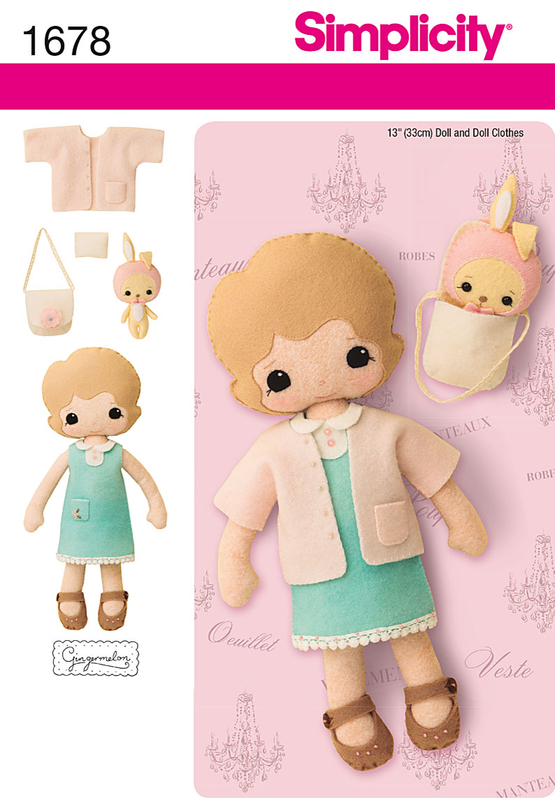 Simplicity Doll and Accessories 1678