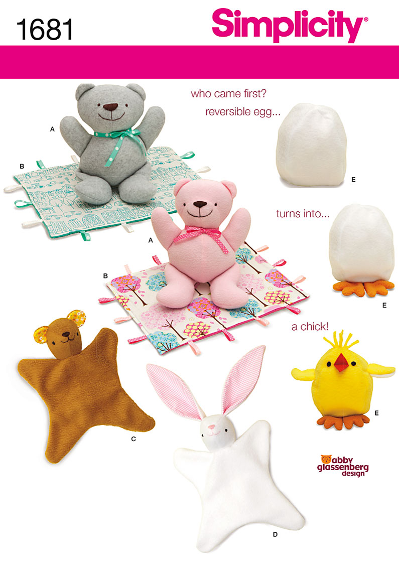 Simplicity Bear, Blanket, Animal Blanket, Chick Toy 1681
