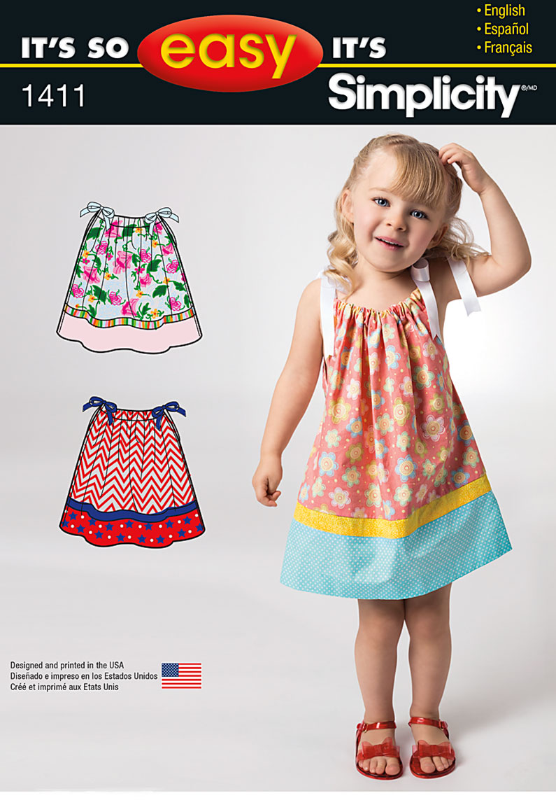 Simplicity It's So Easy Toddlers' Dress 1411