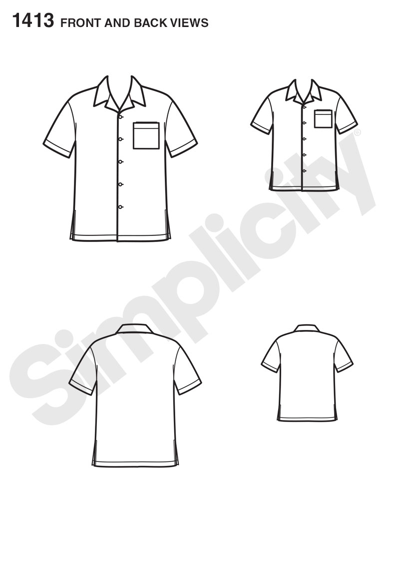 Simplicity 1413 It S So Easy Shirt For Boys And Men Sewing
