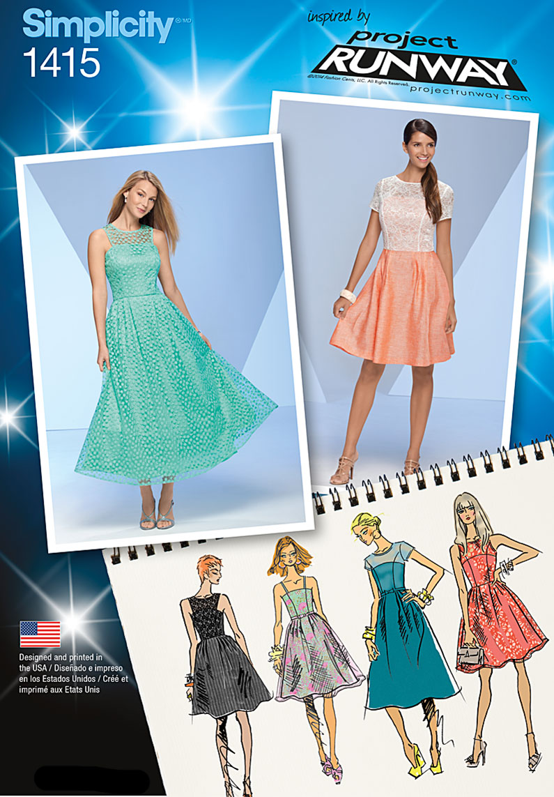 Simplicity Misses' Project Runway Special Occasion Dresses 1415