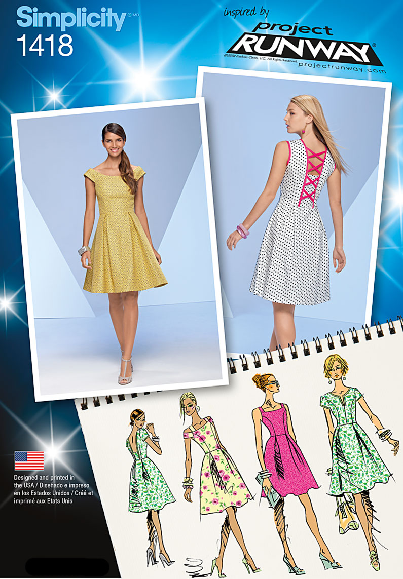 Simplicity Misses' Dress with Bodice Variations 1418