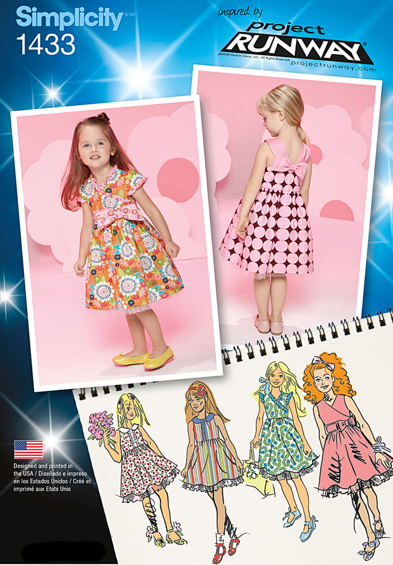 Simplicity Toddlers' and Child's Project Runway Dresses 1433