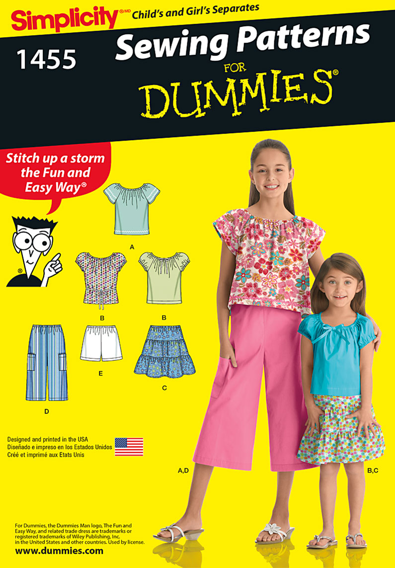 Simplicity Child's and Girls' Separates 1455