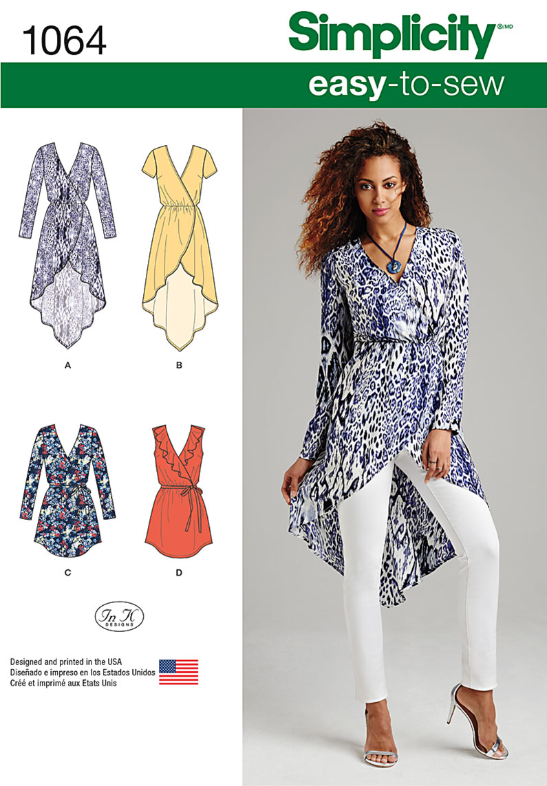 Simplicity 1064 Misses' Tunics Sewing Pattern