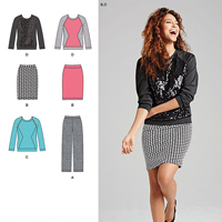 Simplicity 1072 Pattern ( Size 8-10-12-14-16 )