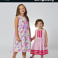 Simplicity 1189 Pattern ( Size 3-4-5-6-7-8 )