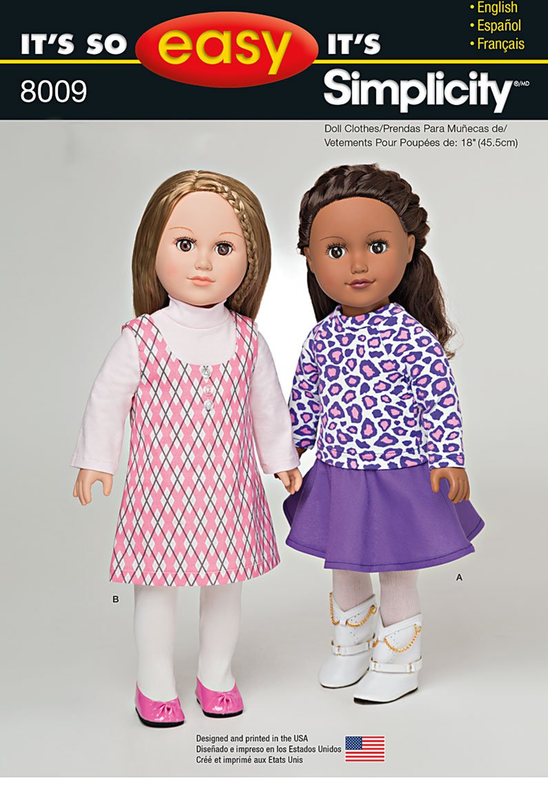 Simplicity 8009 It S So Easy 18 Quot Doll Clothes