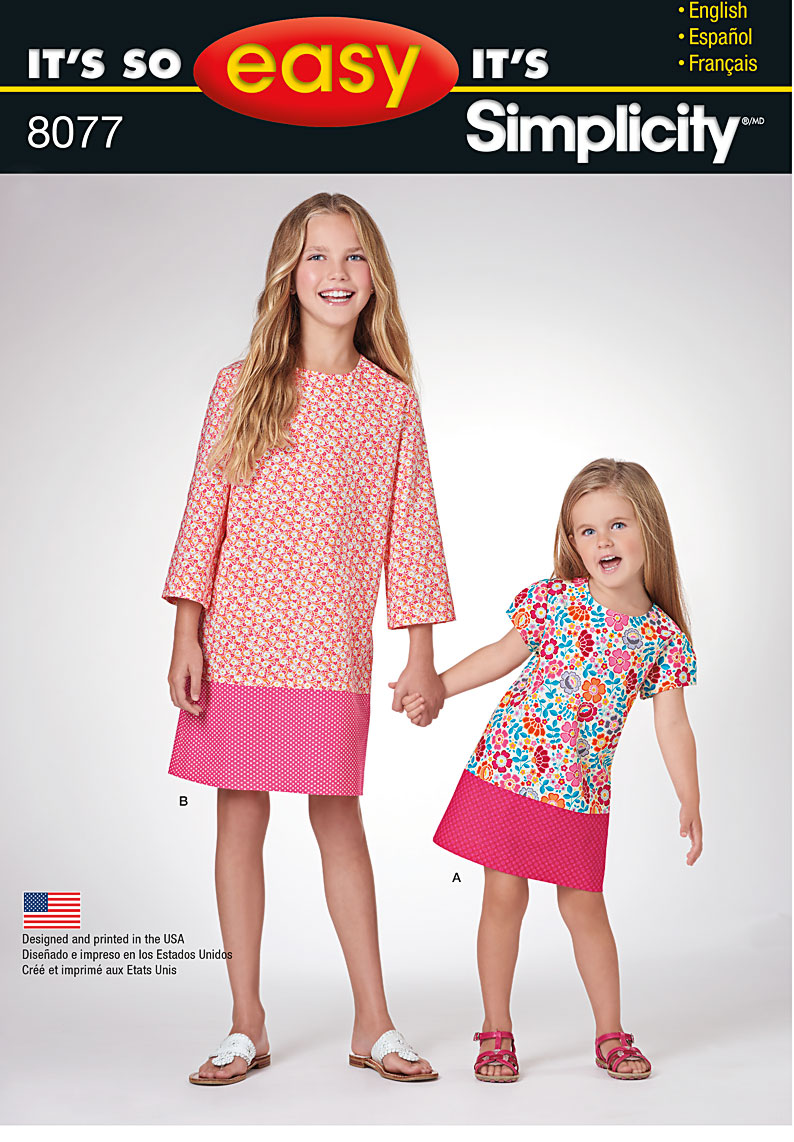 Simplicity 8077 It S So Easy Dresses For Child And Girl