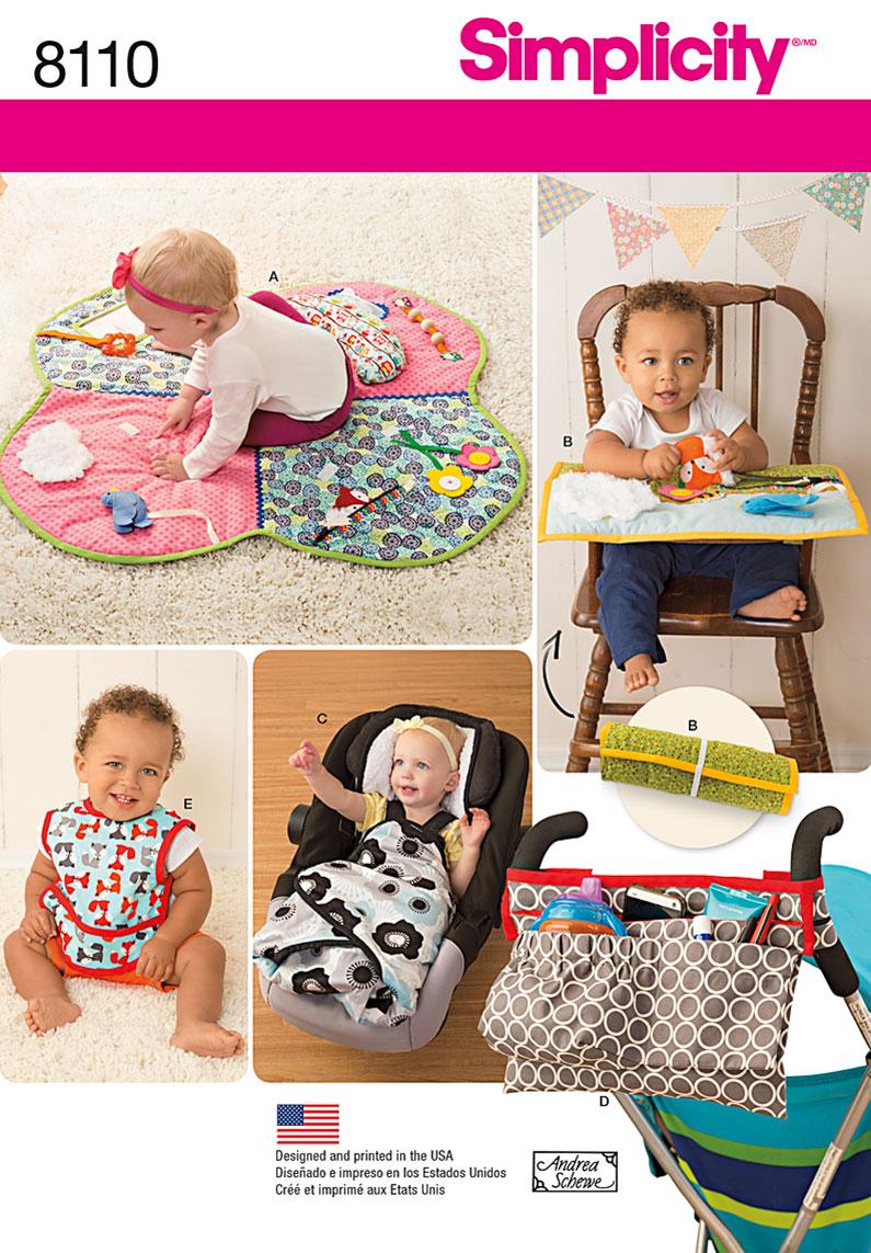 Simplicity 8110 Babies Play Mats Stroller Accessories