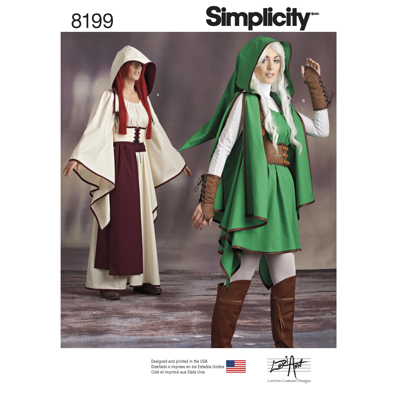 Simplicity 8199- Misses' Costumes