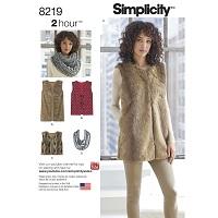 Simplicity 8219 Pattern ( Size XS-S-M-L-XL )
