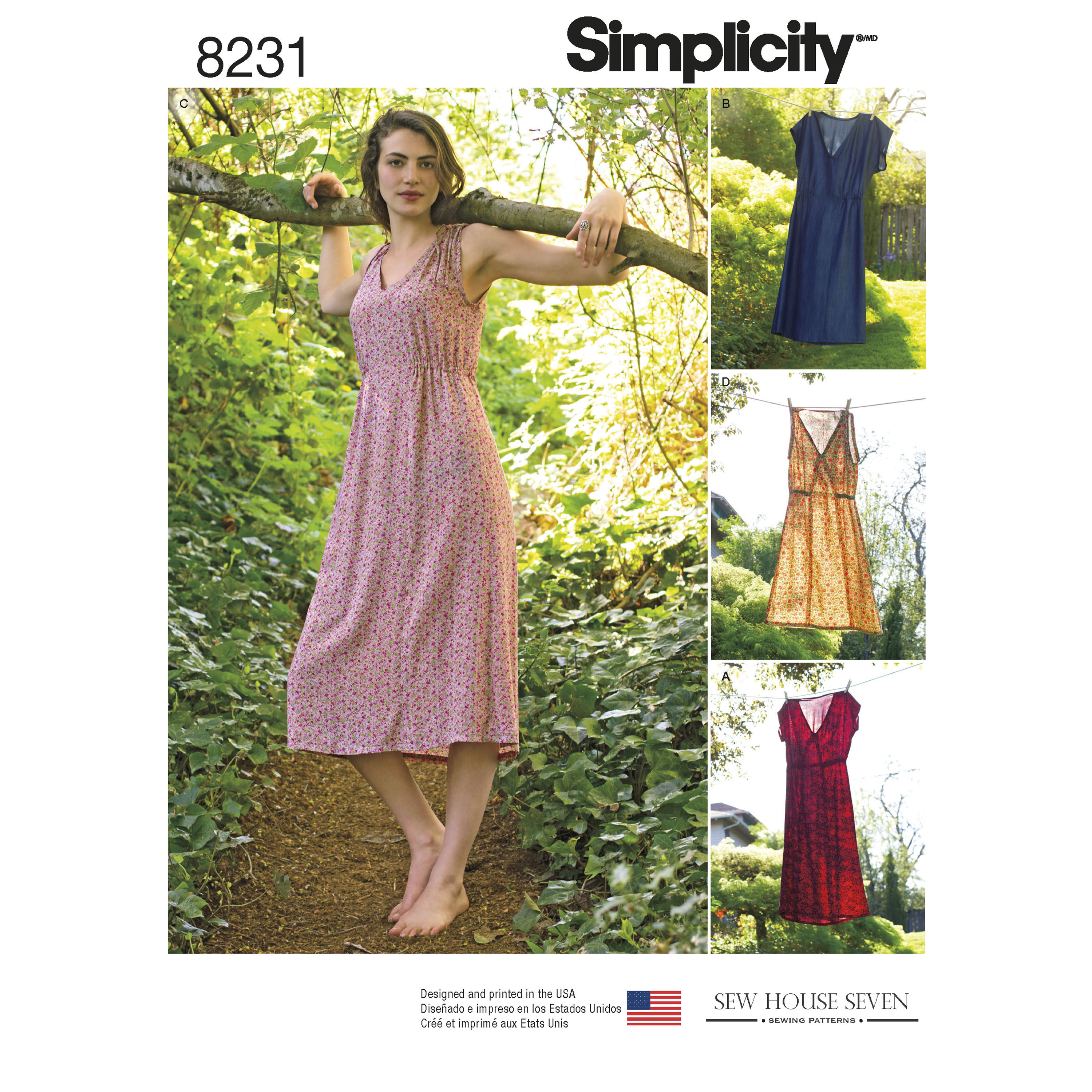 Simplicity 8231 Misses' Dress in Two Lengths sewing pattern