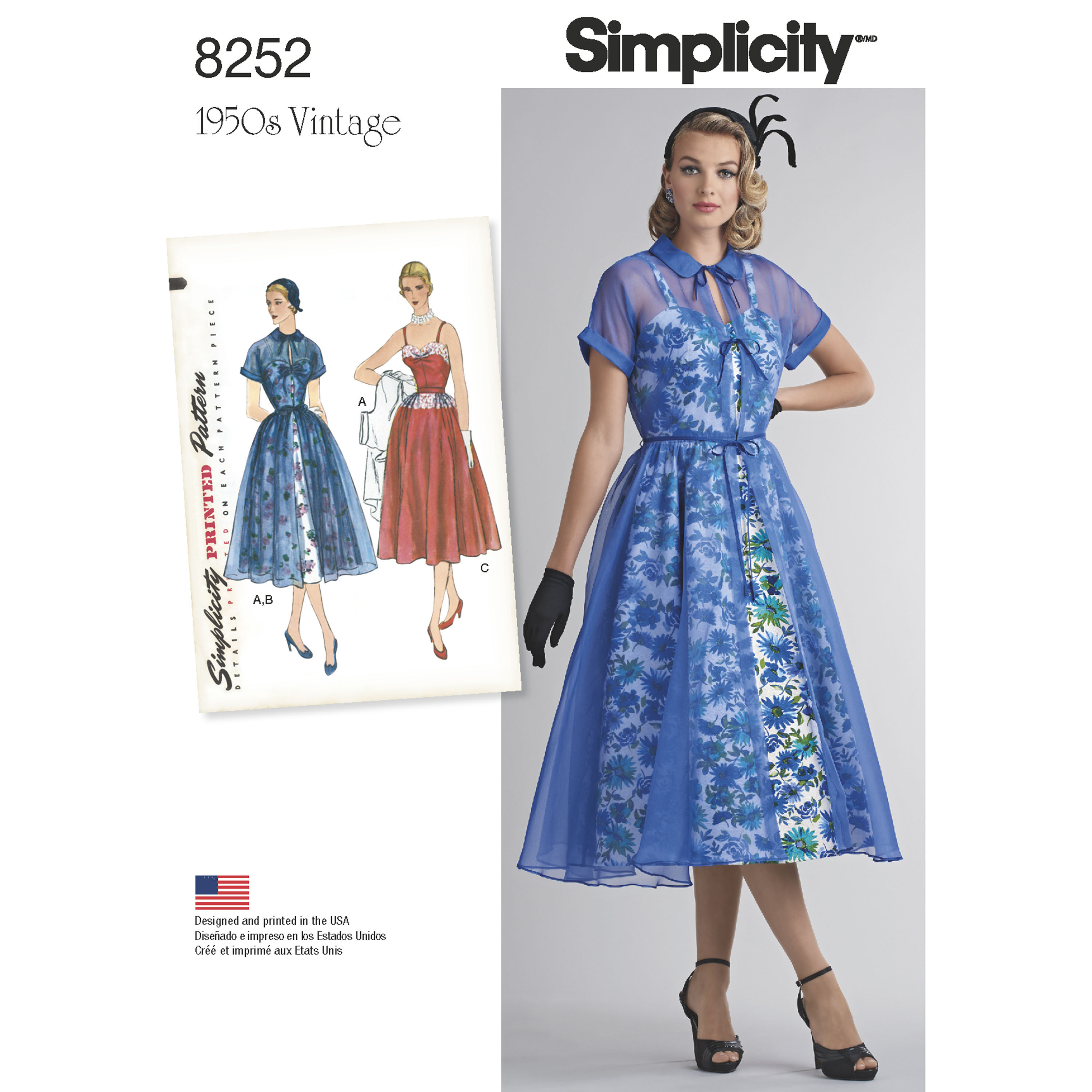 Simplicity 8252- Simplicity Pattern 8252 Misses' 1950's ...