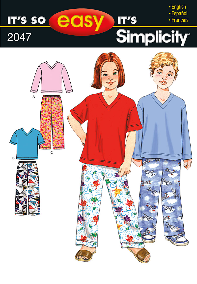 Simplicity Child's pants and knit top 2047