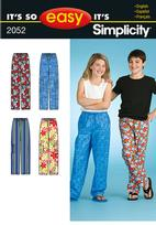 Simplicity 2052 Pattern ( Size 7-8-10-12-14-16 )
