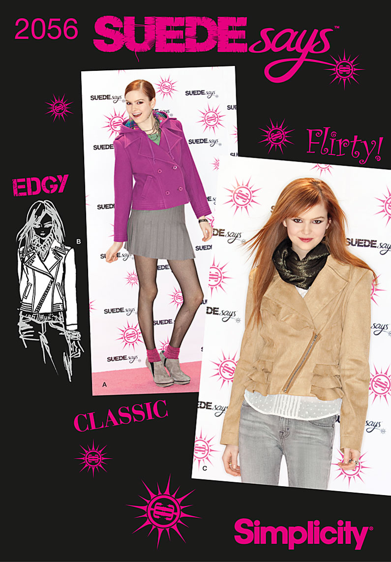 Simplicity Misses Jacket with front variations and detachable hood 2056