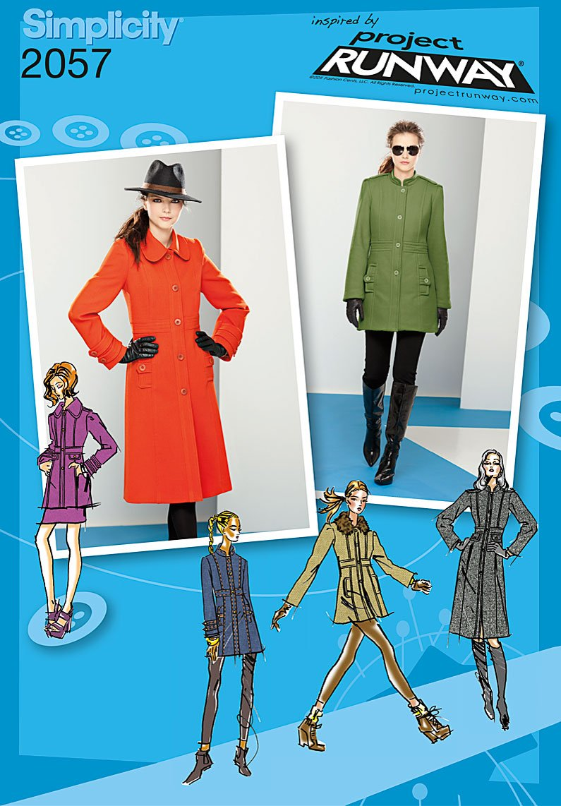 Simplicity Misses coat or jacket with collar and sleeve variations 2057