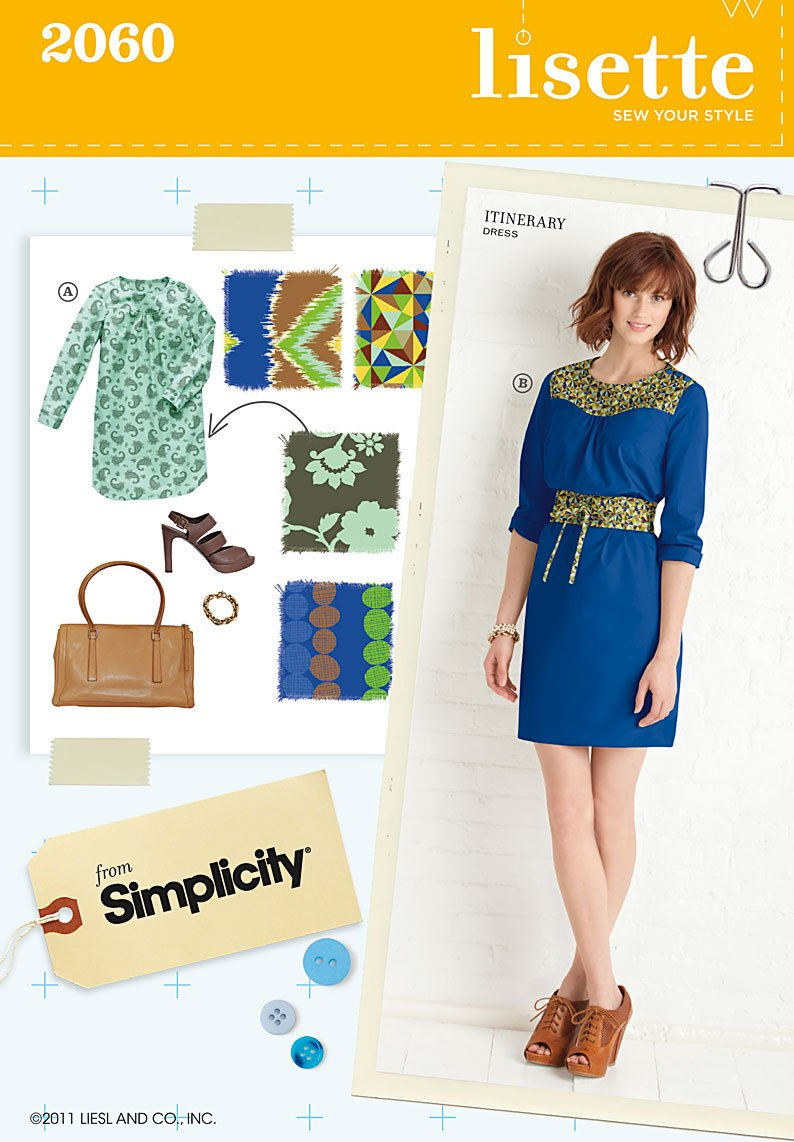 Simplicity Misses dress and belt 2060