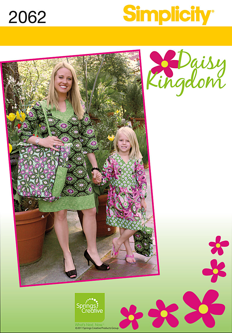 Simplicity Child's and misses dress and bag 2062