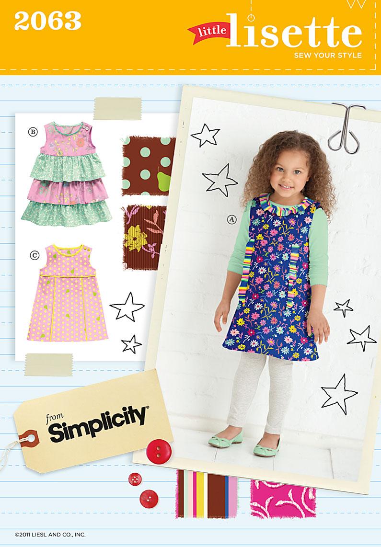 Simplicity childs dress 2063