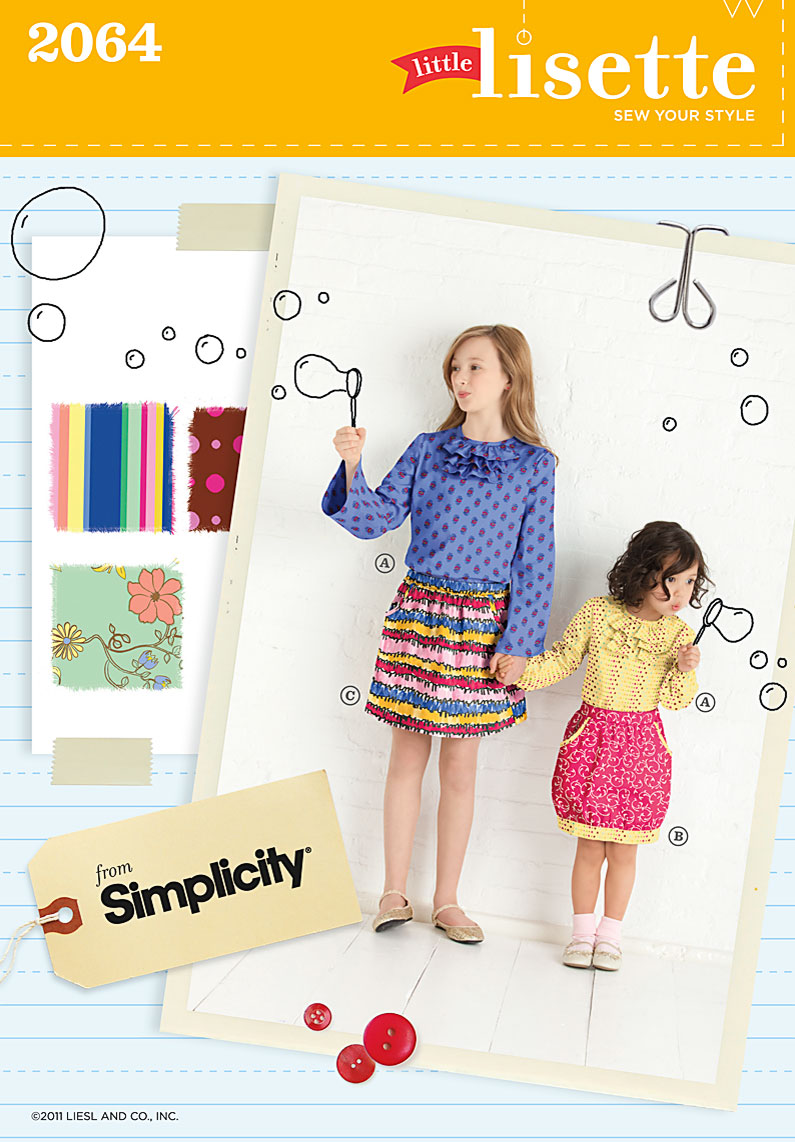 Simplicity childs skirt and pullover blouse 2064